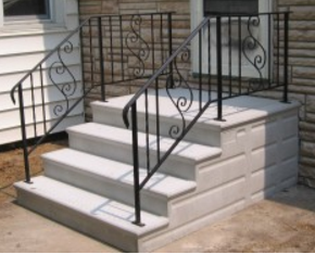 concrete steps septic systems
